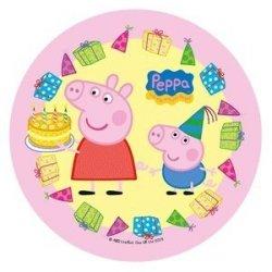 Modecor - opłatek na tort Świnka Peppa Urodziny II