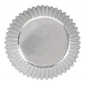 Papilotki na muffinki SREBRNE 24 szt - Wilton