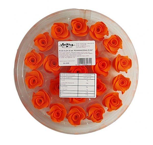 Róże cukrowe DUŻE 22szt pomarańczowe