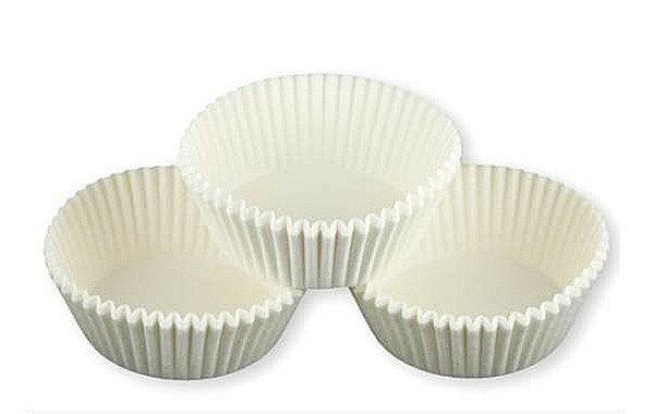 Papilotki foremki na muffinki 45mm białe 100szt