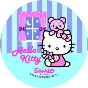 Modecor opłatek na tort Hello Kitty w Mieście 14,5cm