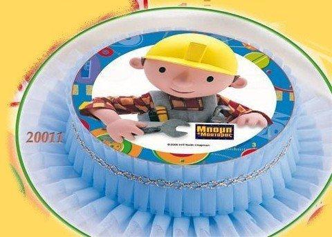 Kardasis - opłatek na tort okrągły Bob Budowniczy