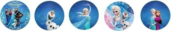 Opłatki na muffinki Kraina Lodu (Frozen) 10 szt. śr. 30 mm