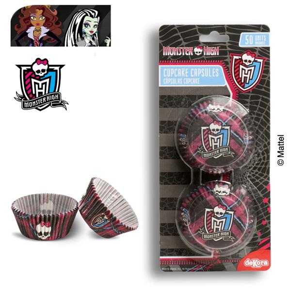 Dekora - papilotki, foremki do mufinek Monster High 50 szt.