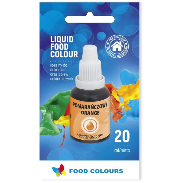 Barwnik spożywczy w płynie POMARAŃCZOWY 20ml - Food Colours