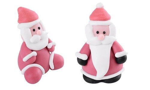 Figurka cukrowa Mikołaj 2 sztuki
