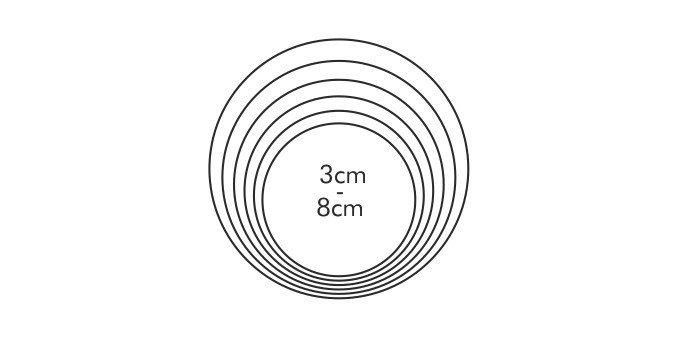 Wykrawacze foremki okrągłe KÓŁKA 6szt - Tescoma
