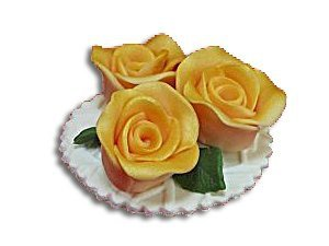 Hokus - Trzy Róże złote - dekoracja cukrowa