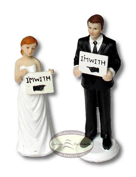 Figurka na tort ślub PARA MŁODA I'm With You