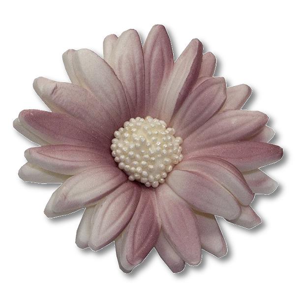 Kwiaty cukrowe MARGARETKA 10szt wrzosowe