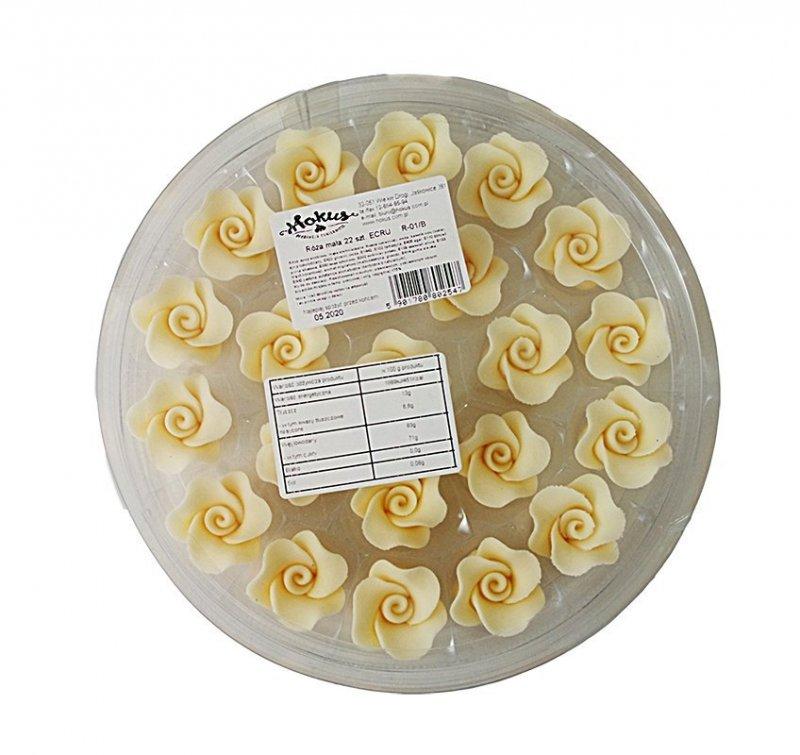 Róże cukrowe MAŁE 22szt ecru