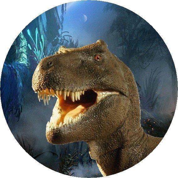 Hokus - opłatek na tort okrągły Tyranozaur 4