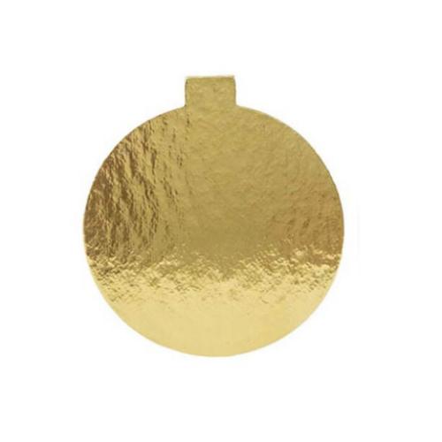 BANKIETÓWKA podkład pod monoporcje złoty śr. 10cm - 10szt