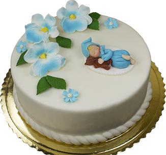 Hokus - Cukrowy bobas z misiem dekoracja tortu na chrzest