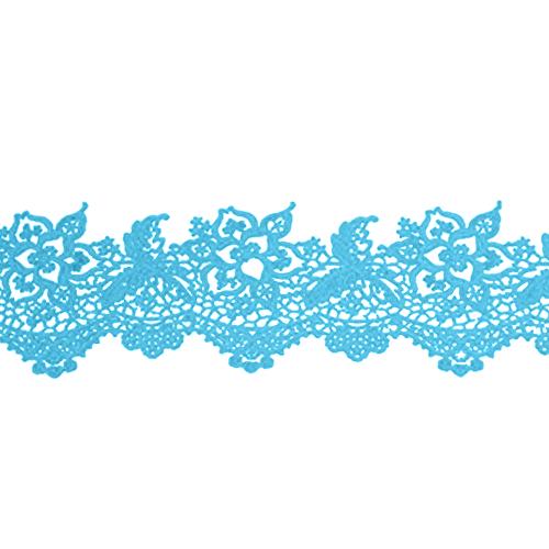 Cukrowa jadalna KORONKA do dekoracji tortu 120cm NIEBIESKA 15