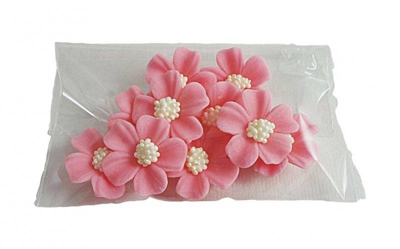 Niezapominajka kwiaty cukrowe 10szt różowe