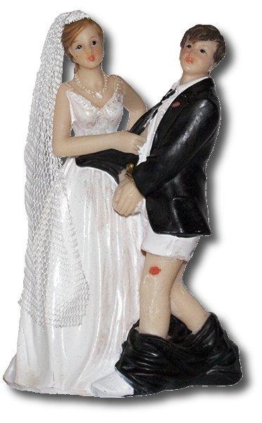 Dekoracja tortu ślubnego Figurka Pan Młody w tarapatach ver. B