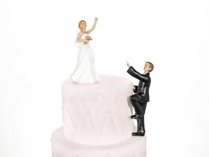 Figurki na tort dwupoziomowy ślub PARA MŁODA
