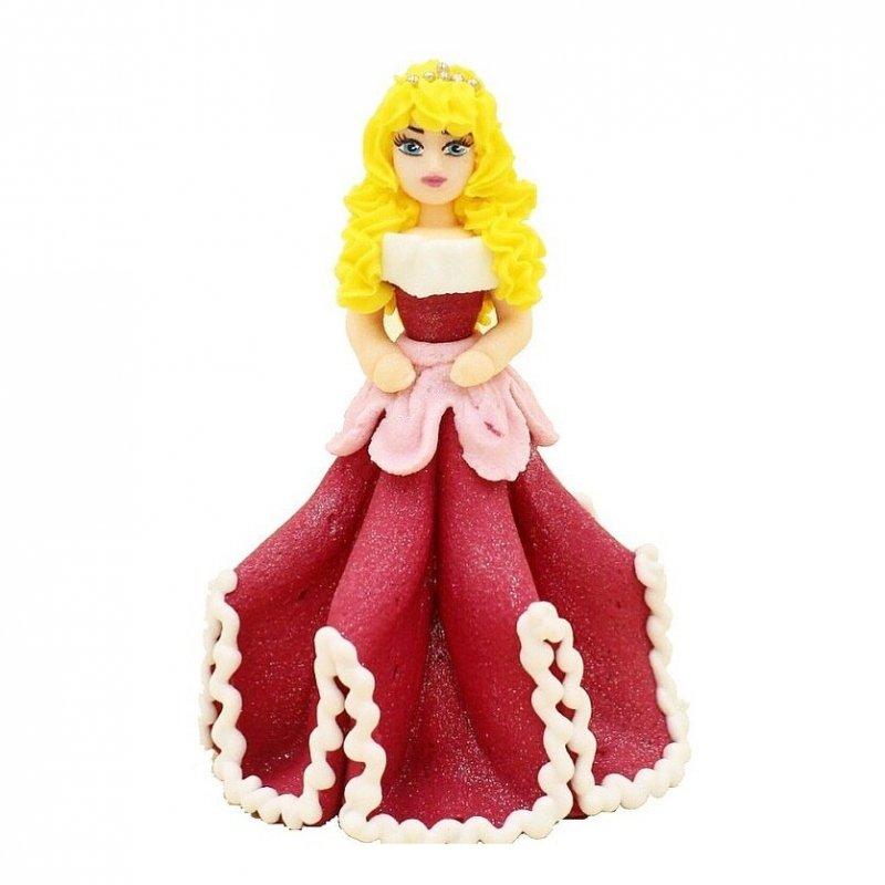 Figurka cukrowa na tort KSIĘŻNICZKA różowa 10,5cm