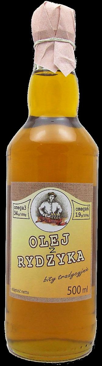 olej z rydzyka 500 ml bity tradycyjnie szkło