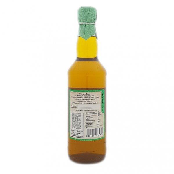 Olej rzepakowy 500 ml Na zdrowie! - tył.