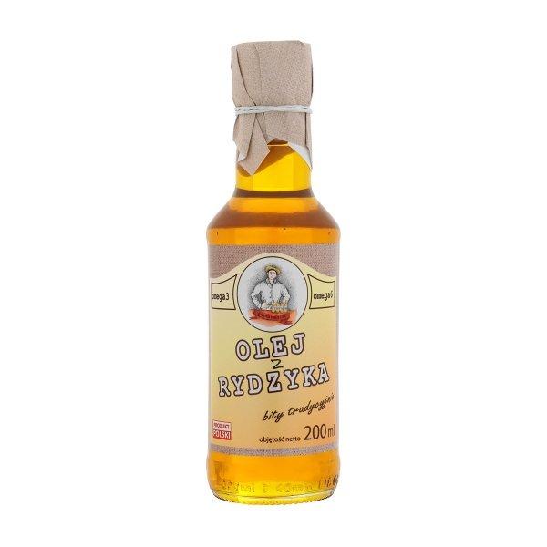 Olej z rydzyka 200 ml bity tradycyjnie - przód.