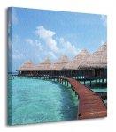 Ville na Oceanie, Maldives - Obraz na płótnie