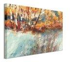 Frost & Autumn Birches - obraz na płótnie