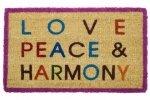 Wycieraczka wejściowa - Love, Peace & Harmony -  44 x 74 x 2 cm