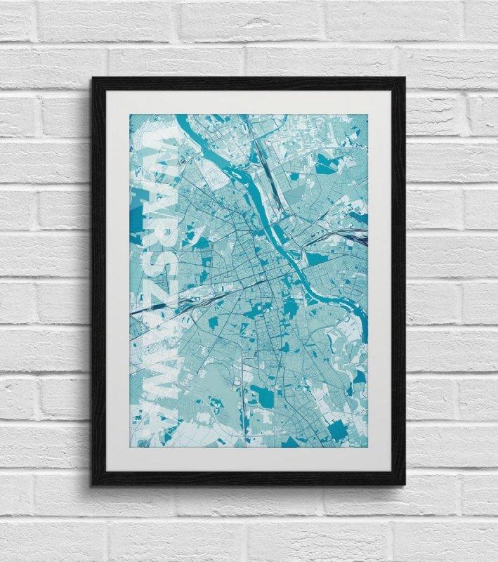 Plakat Na ścianę Warszawa Mapa 50x70 Dekoracje Do