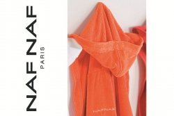 Szlafrok - Orange - NAF NAF - XL - 100% Bawełna