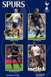 Tottenham Hotspur (Keane, Modric, Palacios & King) - plakat