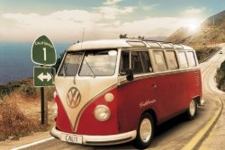 Californian Camper (Route one) - plakat