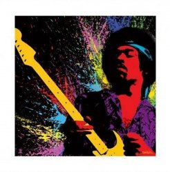 Jimi Hendrix (Paint) - reprodukcja