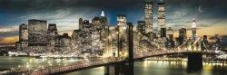 Manhattan, New York (night and noon) - plakat