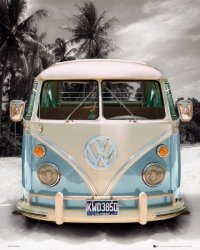 Californian Camper - plakat