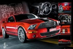 Easton Red Mustang - plakat