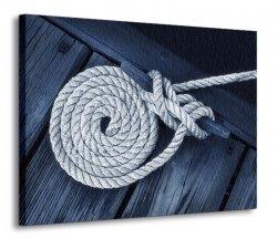 Obraz na ścianę - Lina na łodzi - 120x90 cm