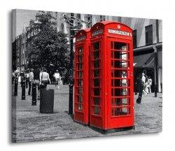 Obraz ścienny - Czerwona budka, Londyn - 90x120 cm