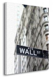 Obraz na ścianę - Wall Street, znak - 90x120 cm