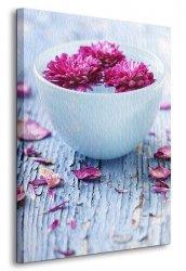 Obraz do salonu - Kwiaty w wazie - Natura - 90x120 cm