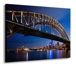 Obraz - dekoracja na ścianę - Sydney nocą - 120x90 cm
