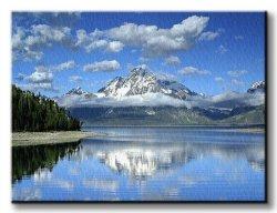Obraz na płótnie - Jezioro Jackson - 120x90 cm