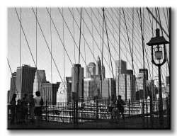 Obraz do salonu - New York Bridge - 120x90 cm