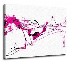 Obraz na płótnie - Różowa abstrakcja - 120x90 cm