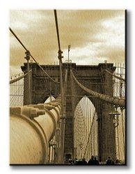 Obraz do salonu - New York, Brooklyn Bridge - 90x120 cm