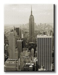 Obraz do salonu - Panorama Manhattanu - 90x120 cm