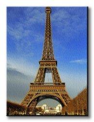 Obraz na płótnie - Wieża Eiffel o poranku - 90x120 cm