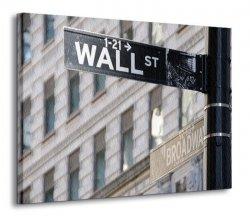 Obraz na płótnie - Wallstreet Ecke Broadway NY - 120x90 cm