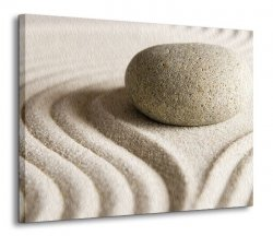 Obraz do salonu - Wzory na piasku III - 120x90 cm